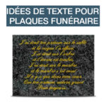 idees textes plaques funeraire